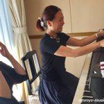 自分のために流れる時間は心地よく、ピアノの前で穏やかな気持ちになります