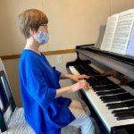 この響き素敵!  歌とピアノのレッスンでSさんは音楽を深く感じています